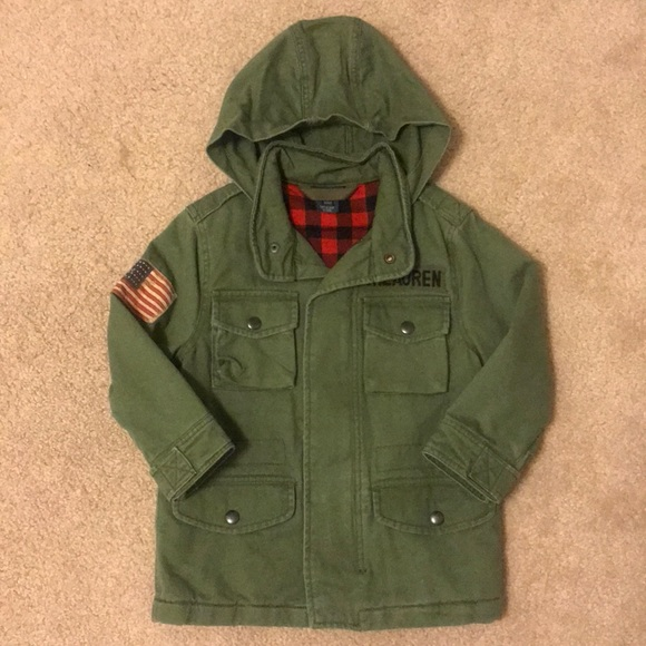 FAST FREE SHIPPING! NWT POLO RALPH LAUREN BOYS BIG PONY PARKA JACKET 4T RED